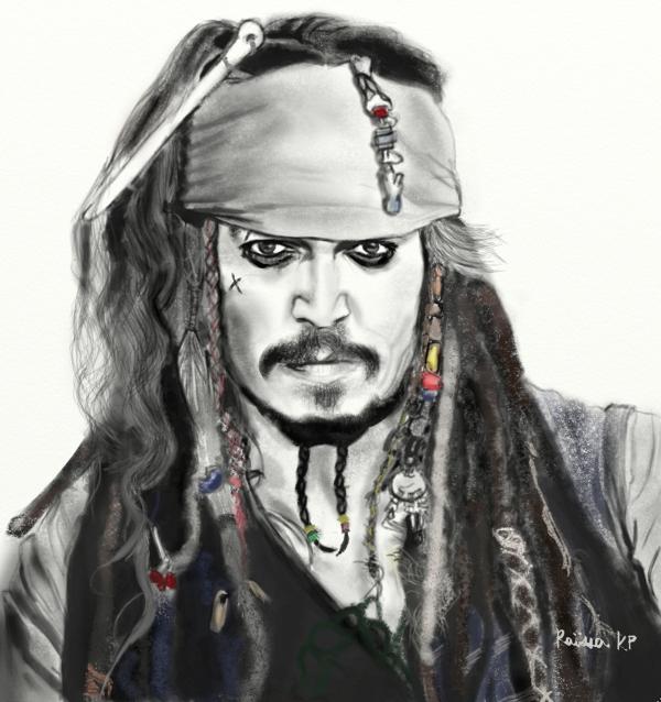 Johnny Depp por RaissaKP